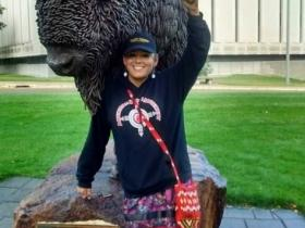 Cante Waste Win (Good Hearted Woman); RedFawn Rallis at ND rally in 2016 -photo source standwithredfawn.org