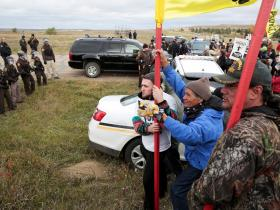 September 2016 NoDAPL direct action (Photo Credit: New York Times)